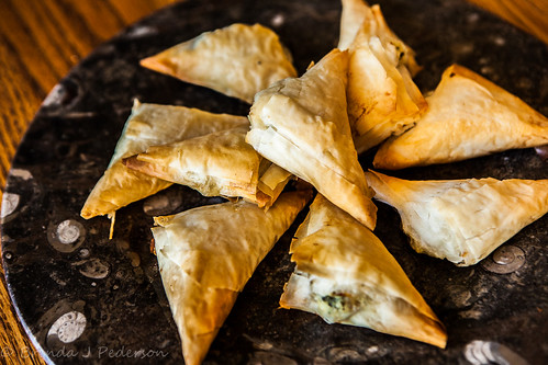 Flaky Cheese-Filled Triangles with Herbs