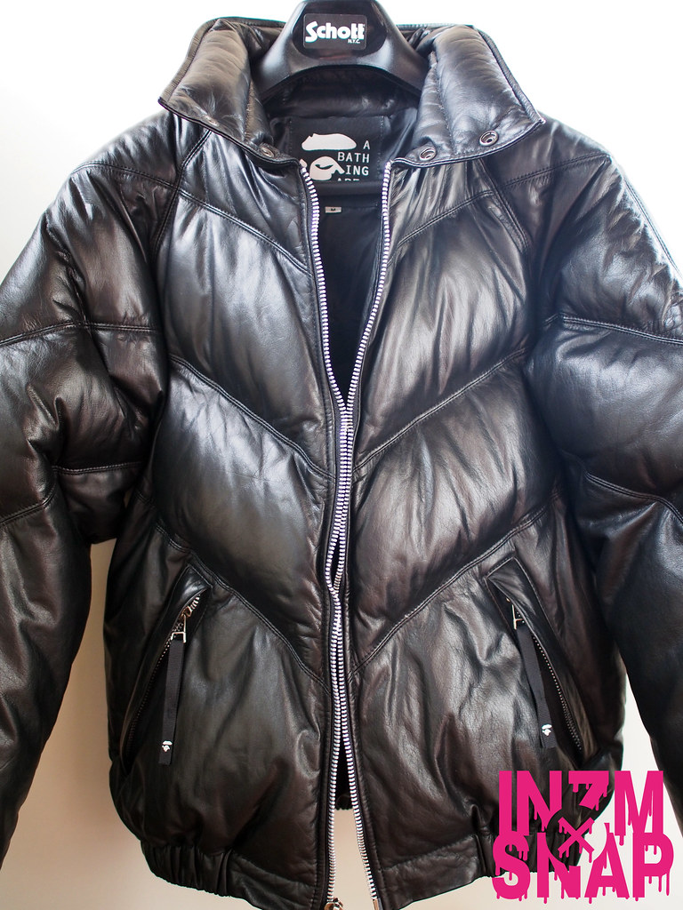 A BATHING APE | Leather Down Jacket