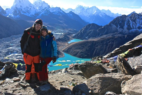 Lina and I at the top of Gokyo Ri