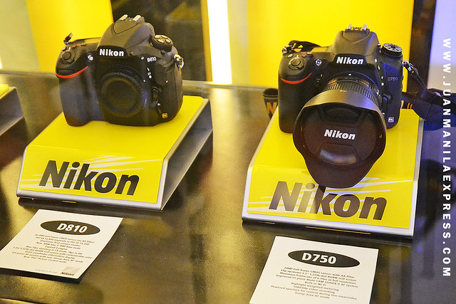 THE NEW NIKON D750 DISPLAYED ALONGSIDE NIKON D810 AT THE NIKON SHOWROOM & SERVICE CENTER IN MAKATI.