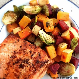 Roasted Brussels, Butternut, & Beets