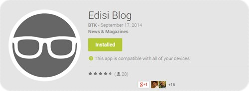 Edisi Blog - Applikasi Untuk Ping Entri !