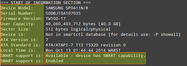 How to check hard disk health on Linux using smartmontools