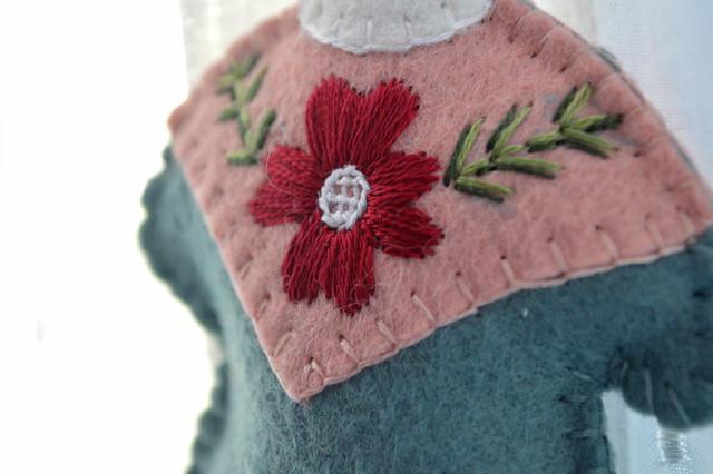 La Befana handmade felt ornament