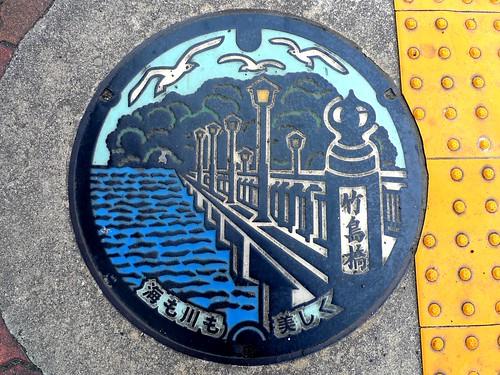 Gamagori Aichi, manhole cover (愛知県蒲郡市のマンホール)