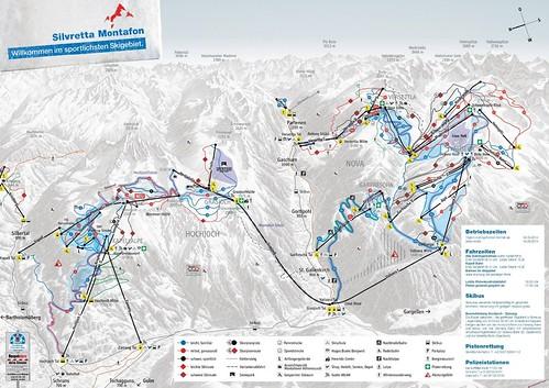 Silvretta Montafon - mapa sjezdovek