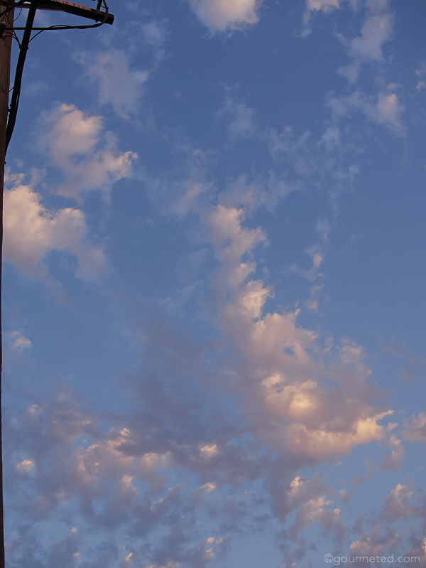 A glimpse of our late summer skies at sundown.