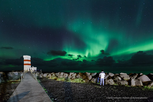 Tourists enjoying the Aurora