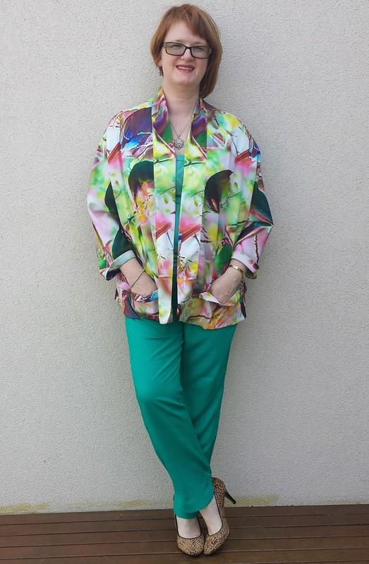 Tessuti Tokyo Jacket in digitally printed poly crepe from Darn Cheap Fabrics