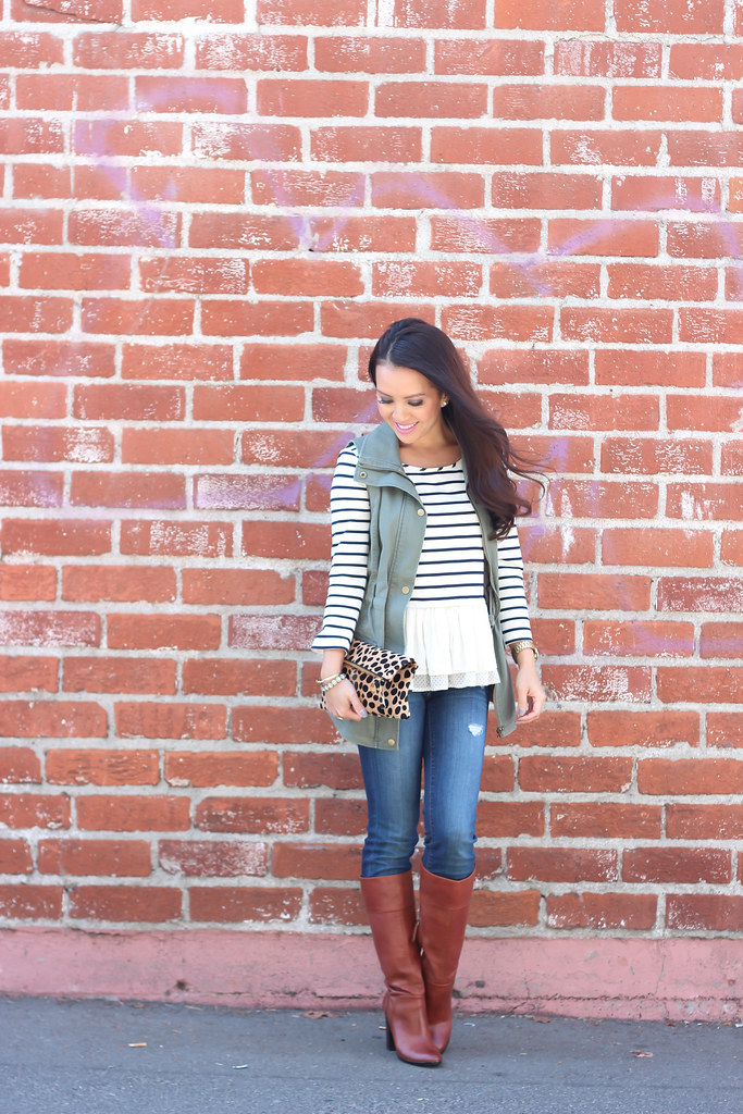 Olive Vest and Stripes-2