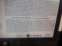 Photo of Oscar Wilde white plaque