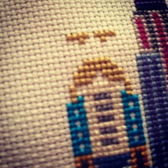 Accidental angry face #iseefaces #satsumastreet #crossstitch
