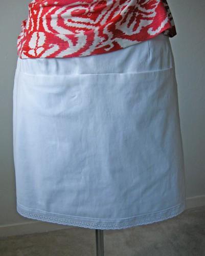 V1247 white skirt