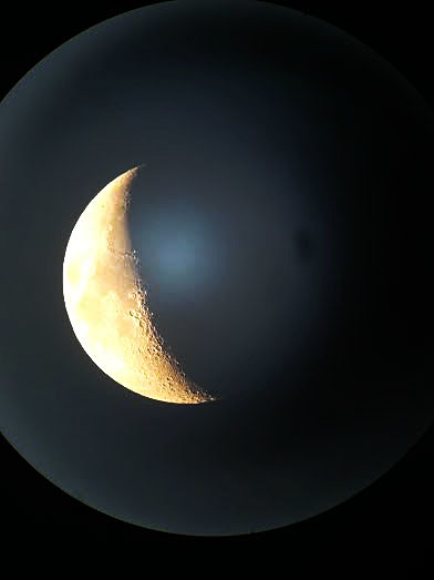 moon through scope