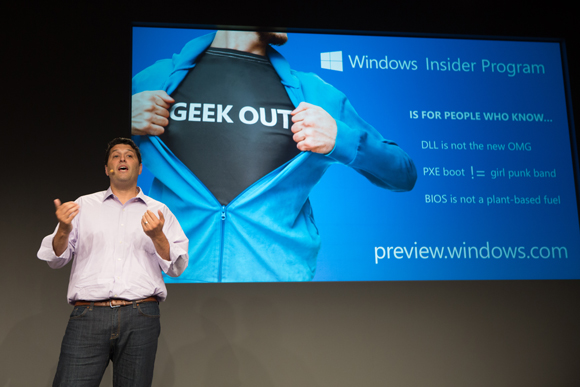 Terry Myerson, executive vice president, Operating Systems Group, introduces the Windows Insider Program, designed to generate feedback from participants who want to engage in the development of Microsoft's next generation OS.