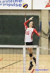 Volleyball Carabins tournament in Montreal. McGill Hornets Serve
