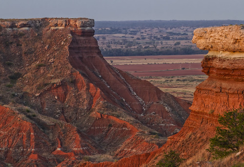 red oklahoma landscape view ok selenite glassmountains glossmountains