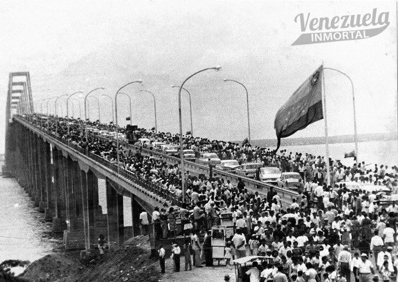 inauguracion puente sobre el lago
