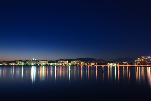 city longexposure light sunset reflection night stars nikon dusk lakeside clear nightview shinji lakeshinji d600 松江 島根 宍道湖 1635mm sannin 山陰