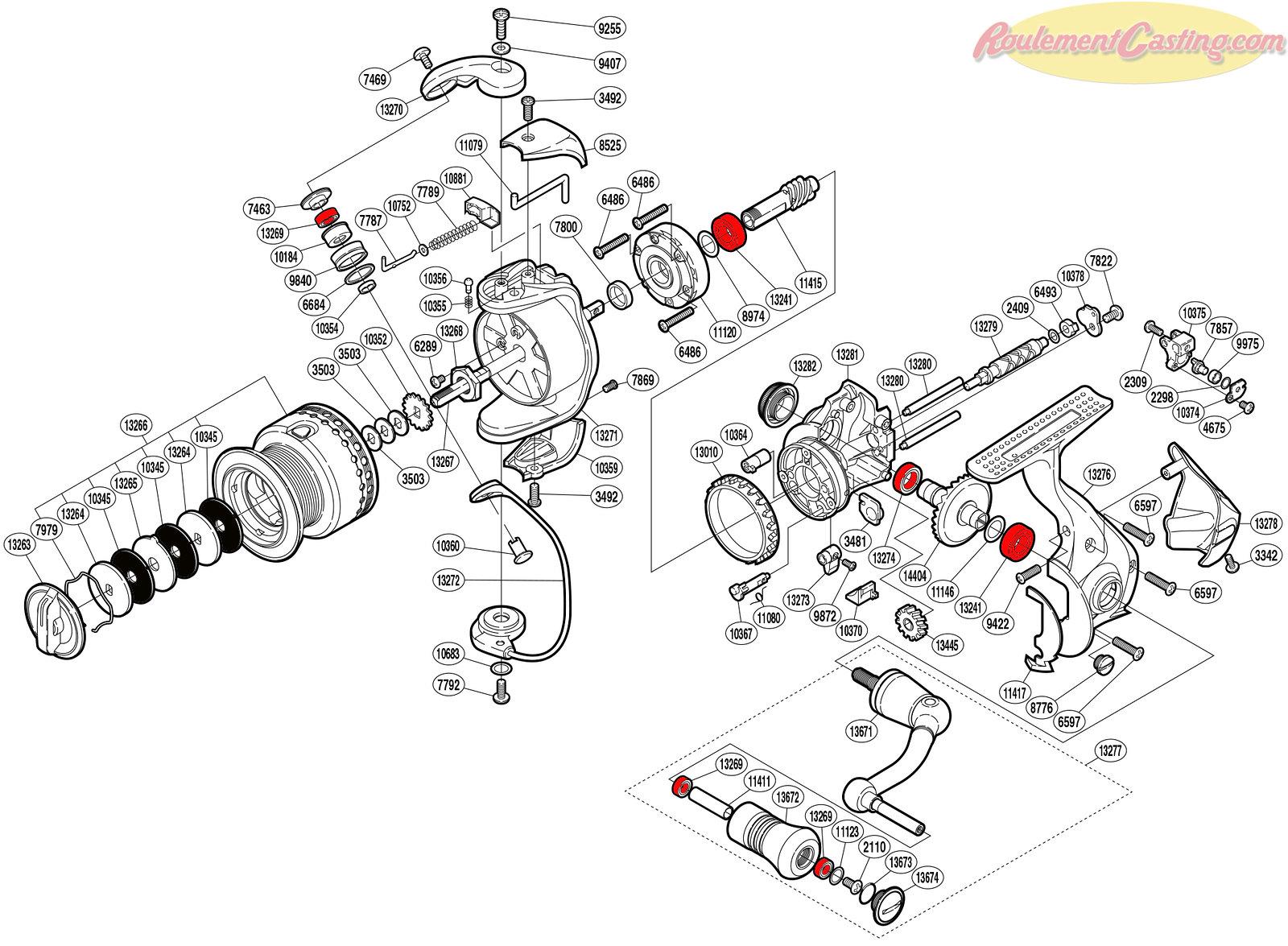 Schéma Shimano 10Stradic CI425000F