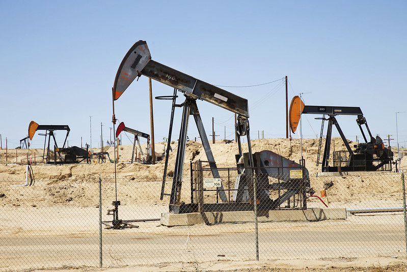 photo of oil pump in California