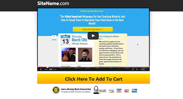 Attention Getting Video Sales Page
