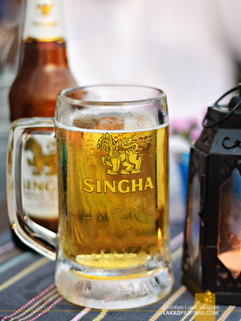 Singha Beer at ESS Restaurant in Bangkok