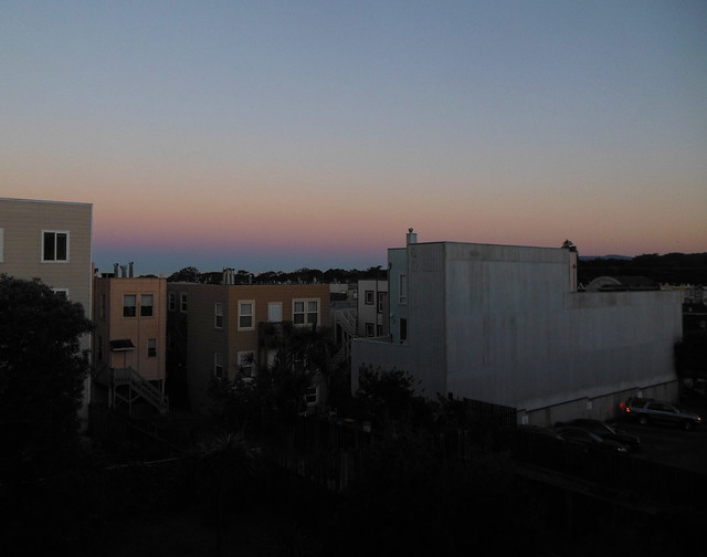 the view from 1333 26th avenue, early morning ; the sunset, san francisco (2014)