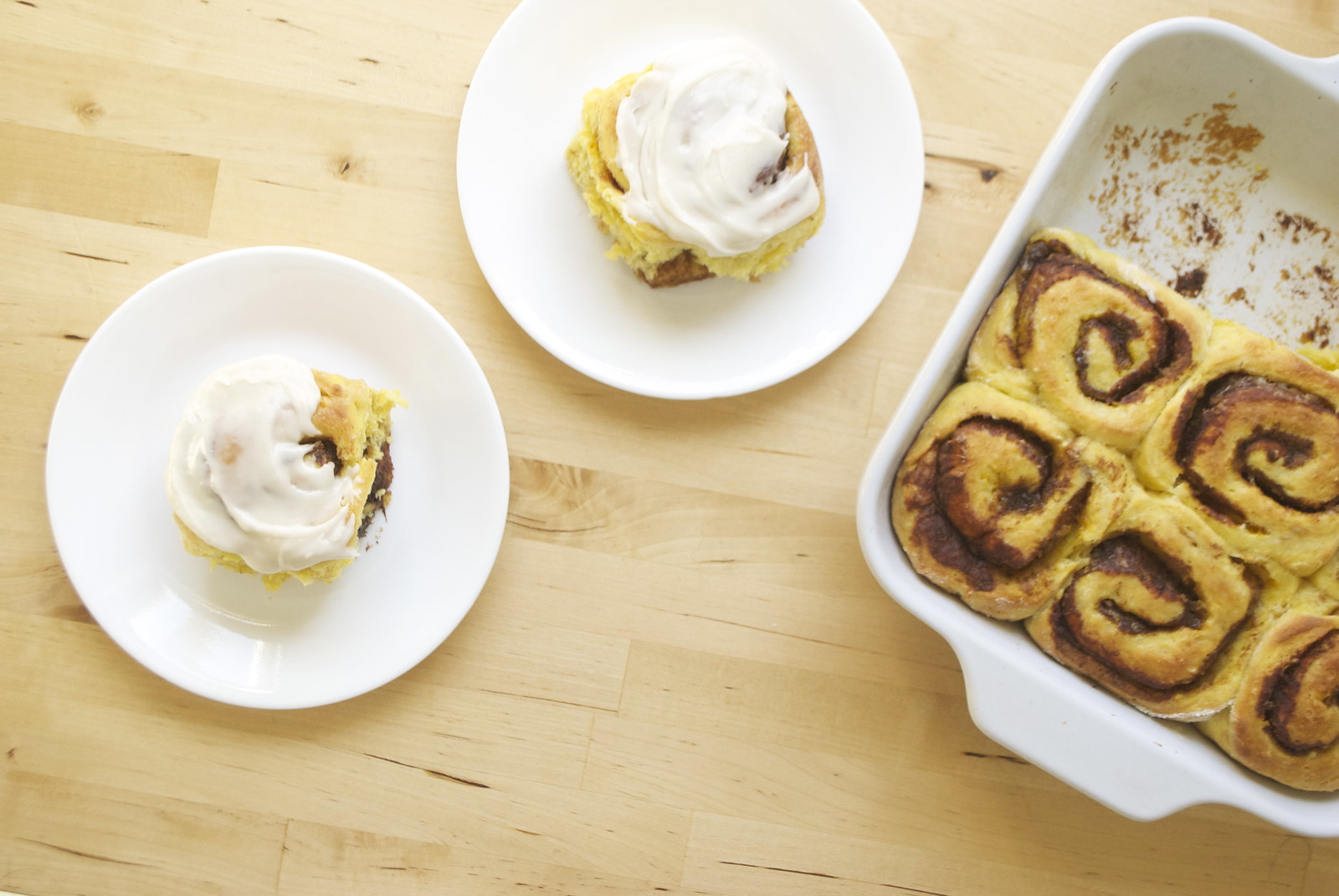 No-Knead Pumpkin Cinnamon Rolls | Kitchen in the Hills