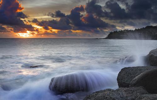 ocean sunset sea seascape water rock canon thailand coast shoreline wave dos shore 7d coastline edwin emmerick edwinemmerick