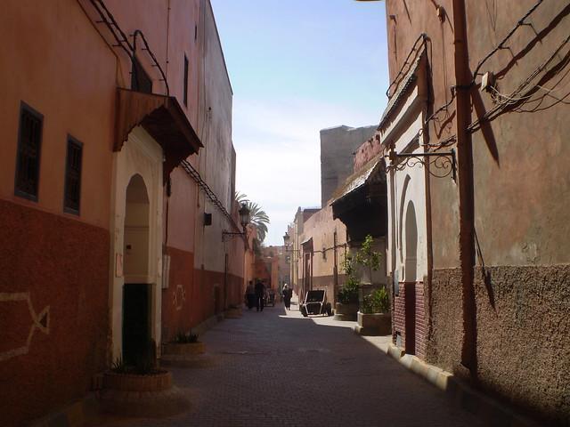 A quieter side street, Marrakesh