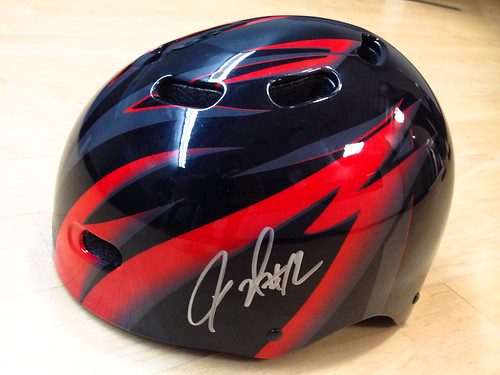signed helmets for Blazers Bike Night!-2