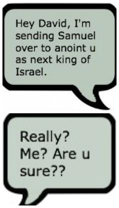 God texts David