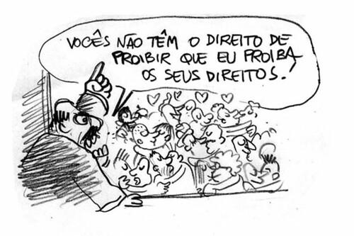 Levy Fidelix fala sobre Homossexuais (Debate Record - 29/IX/14), por Laerte