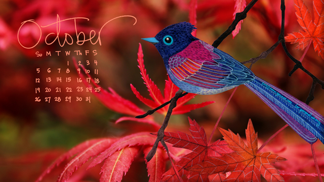 October '14 Desktop Calendar
