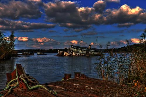 water graveyard canon eos sweden shipwreck ms sverige scandinavia legend vatten norrköping hdr östergötland 3xp 70d bråviken karlsro canonefs18135