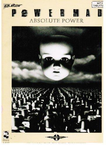 """1990 Powermad """"Absolute Power"""" Sheet Music/ Tablature Booklet"""