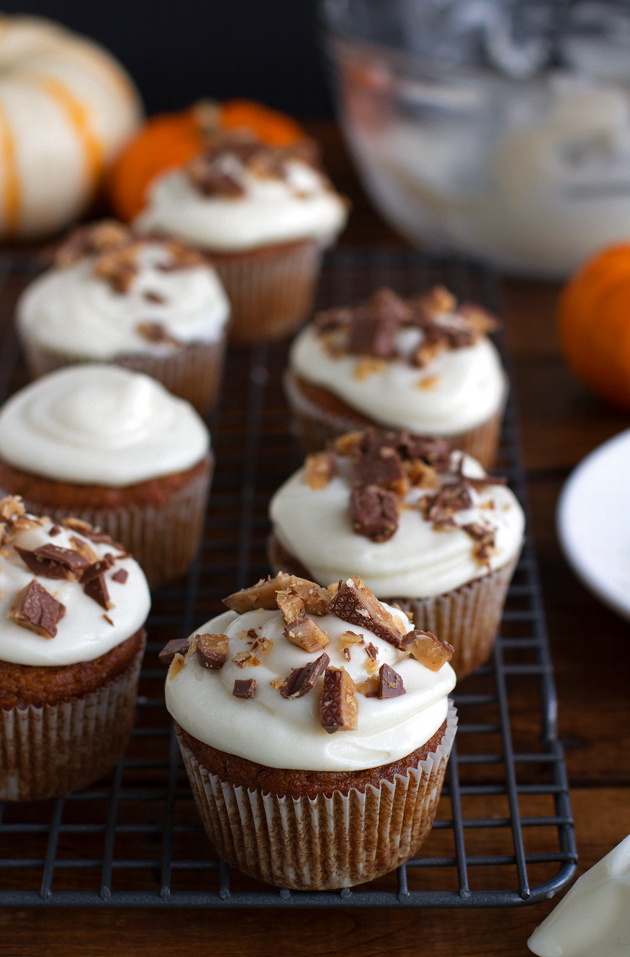 Maple Cream Cheese Frosting pumpkin cupcakes with maple cream cheese frosting recipe | little