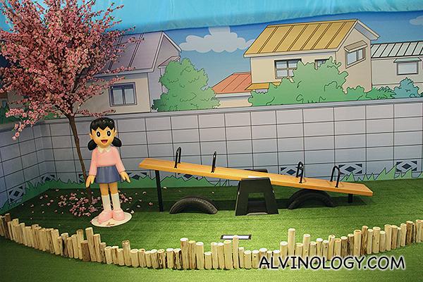 Shizuka Minamoto by a swing