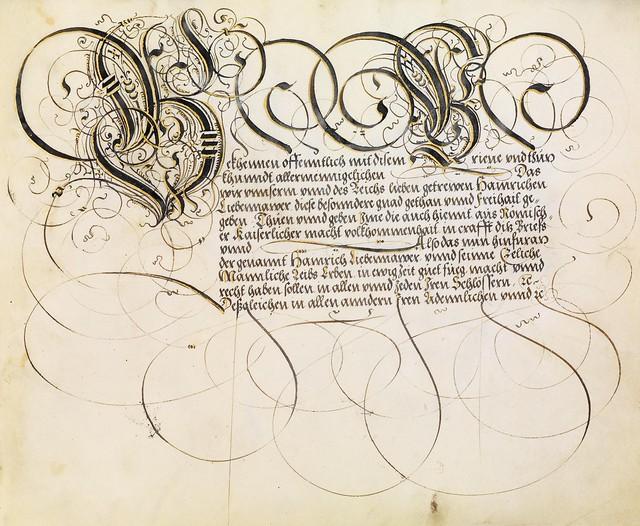FJ Brechtel calligraphy 16th cent. n