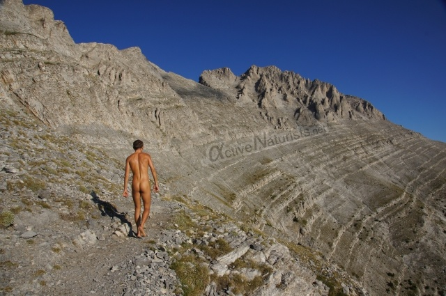 naturist 0023 E4 trail, Mount Olympus, Greece