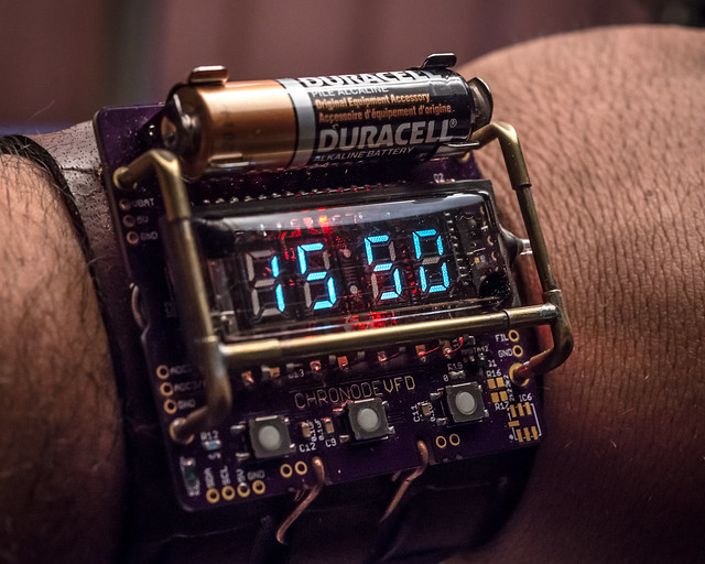 ChronodeVFD cyberpunk wristwatch