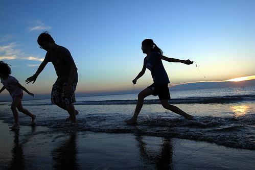 sunset 夕陽 grdigital ricoh 日落 淡水 tamsui 玩水 海邊 海灘 沙灘 海濱 grd 玩沙 grd3 洲子灣 grdiii