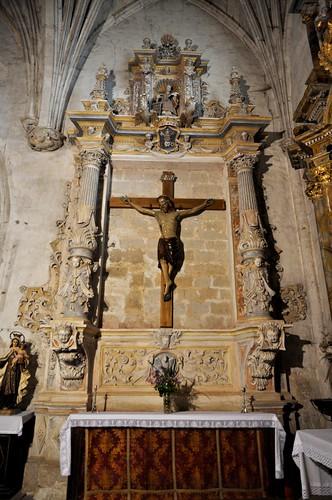 Arenillas de Riopisuerga (Burgos). Iglesia de Santa María. Retablo del Santo Cristo