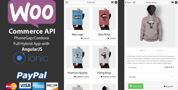Ionic WooCommerce API v1.5.0 - PhoneGap / Cordova Full Hybrid App