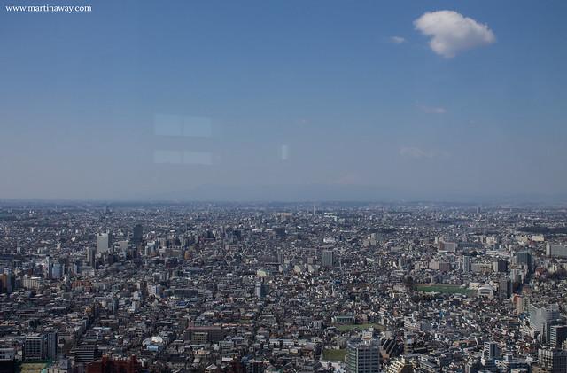 Il monte Fuji visto dal Tokyo Metropolitan Government Building