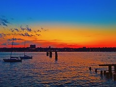 Sunset by the Hudson River, New York City