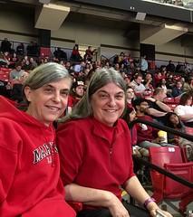 enjoying the MD/WV basketball game