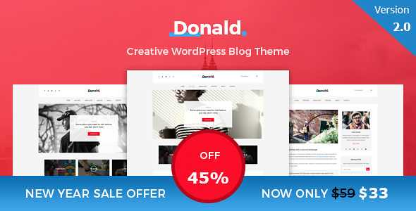 Donald WordPress Theme free download
