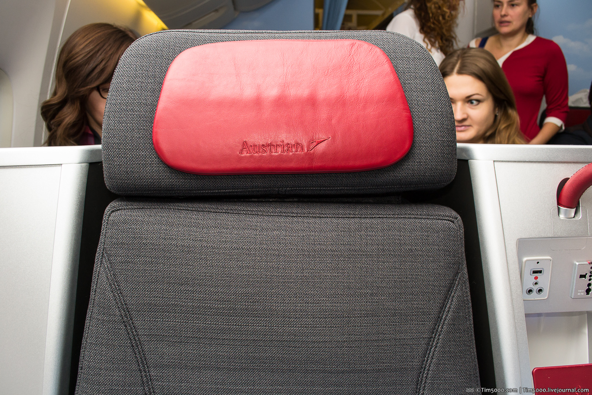 Бизнес-класс Boeing 777 Austrian Airlines